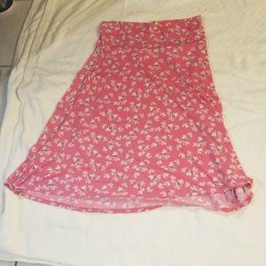 LulaRoe Flower Skirt